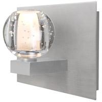 Besa Lighting 1WF-BOCABB-SN Boca 1 Light Satin Nickel Vanity Light Wall Light