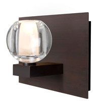 Besa Lighting 1WF-BOCACL-BR Boca 1 Light Bronze Vanity Light Wall Light