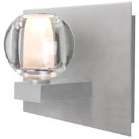 Besa Lighting 1WF-BOCACL-SN Boca 1 Light Satin Nickel Vanity Light Wall Light
