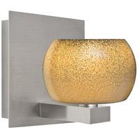 Besa Lighting 1WF-KENOGD-LED-SN Keno 1 Light Satin Nickel Vanity Light Wall Light