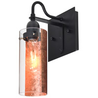 Duke 1 Light 6 inch Black Wall Sconce Wall Light in Copper Foil Glass