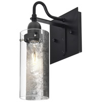 Duke 1 Light 6 inch Black Wall Sconce Wall Light in Silver Foil Glass