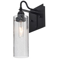 Juni 10 1 Light 6 inch Black Wall Sconce Wall Light in Clear Bubble Glass