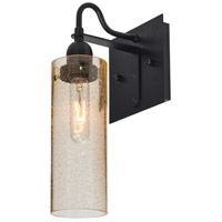 Juni 10 1 Light 6 inch Black Wall Sconce Wall Light in Gold Bubble Glass