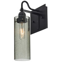 Juni 10 1 Light 6 inch Black Wall Sconce Wall Light in Moss Bubble Glass