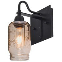 Milo 4 1 Light 6 inch Black Wall Sconce Wall Light in Smoke Spirit Glass