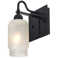 Milo 4 1 Light 6 inch Black Wall Sconce Wall Light in White Frost Glass
