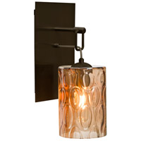 Besa Lighting 1WP-CRUSAM-BR Cruise 1 Light Bronze Wall Pendant Ceiling Light in Transparent Amber Glass