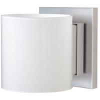 Besa Lighting 1WS-718006-LED-SN Pogo LED 5 inch Satin Nickel ADA Mini Sconce Wall Light in Opal Glossy Glass