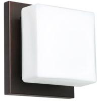 Besa Lighting 1WS-773507-BR Alex 1 Light 5 inch Bronze ADA Mini Sconce Wall Light in Halogen Opal Matte Glass