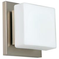 Besa Lighting 1WS-773507-LED-SN Alex LED 5 inch Satin Nickel ADA Mini Sconce Wall Light in Opal Matte Glass