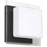 Besa Lighting 1WS-773539-BR Alex 1 Light 6 inch Bronze ADA Mini Sconce Wall Light in Halogen Opal/Clear Glass