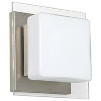 Besa Lighting 1WS-773539-LED-SN Alex LED 6 inch Satin Nickel ADA Mini Sconce Wall Light in Opal/Clear Glass