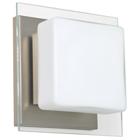 Besa Lighting 1WS-773539-SN Alex 1 Light 6 inch Satin Nickel ADA Mini Sconce Wall Light in Halogen Opal/Clear Glass