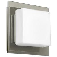 Besa Lighting 1WS-7735SM-CR Alex 1 Light 6 inch Chrome ADA Mini Sconce Wall Light in Halogen Opal with Smoke Glass