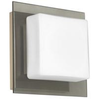 Besa Lighting 1WS-7735SM-SN Alex 1 Light 6 inch Satin Nickel ADA Mini Sconce Wall Light in Halogen Opal with Smoke Glass