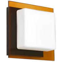 Besa Lighting 1WS-7735TG-BR Alex 1 Light 6 inch Bronze ADA Mini Sconce Wall Light in Halogen Opal/Armagnac Glass
