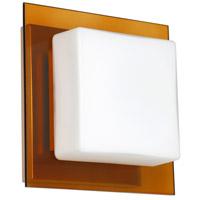 Besa Lighting 1WS-7735TG-LED-SN Alex LED 6 inch Satin Nickel ADA Mini Sconce Wall Light in Opal/Armagnac Glass