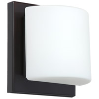 Besa Lighting 1WS-787307-LED-BR Paolo LED 5 inch Bronze ADA Mini Sconce Wall Light in Opal Matte Glass