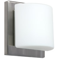 Besa Lighting 1WS-787307-SN Paolo 1 Light 5 inch Satin Nickel ADA Mini Sconce Wall Light in Halogen Opal Matte Glass
