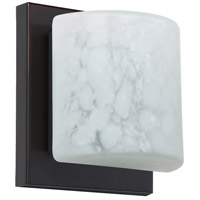 Besa Lighting 1WS-787319-LED-BR Paolo LED 5 inch Bronze ADA Mini Sconce Wall Light in Carrera Glass