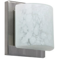 Besa Lighting 1WS-787319-LED-SN Paolo LED 5 inch Satin Nickel ADA Mini Sconce Wall Light in Carrera Glass