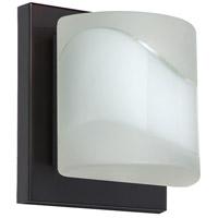 Besa Lighting 1WS-787399-BR Paolo 1 Light 5 inch Bronze ADA Mini Sconce Wall Light in Halogen Opal Frost Glass