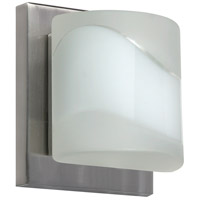 Besa Lighting 1WS-787399-SN Paolo 1 Light 5 inch Satin Nickel ADA Mini Sconce Wall Light in Halogen Opal Frost Glass