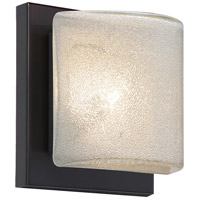 Besa Lighting 1WS-7873GL-LED-BR Paolo LED 5 inch Bronze ADA Mini Sconce Wall Light in Glitter Glass