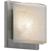 Besa Lighting 1WS-7873GL-LED-SN Paolo LED 5 inch Satin Nickel ADA Mini Sconce Wall Light in Glitter Glass