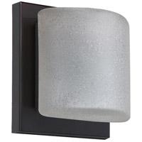 Besa Lighting 1WS-7873ST-BR Paolo 1 Light 5 inch Bronze ADA Mini Sconce Wall Light in Halogen Stucco Glass