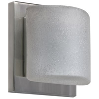 Besa Lighting 1WS-7873ST-SN Paolo 1 Light 5 inch Satin Nickel ADA Mini Sconce Wall Light in Halogen Stucco Glass