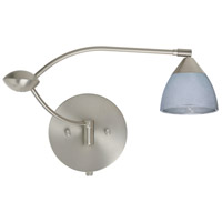 Besa Lighting 1WU-1758SF-SN Divi 1wu 20 inch 50 watt Satin Nickel Swing Arm Sconce Wall Light