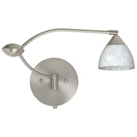 Besa Lighting 1WU-185819-SN Divi 1wu 20 inch 50 watt Satin Nickel Swing Arm Sconce Wall Light