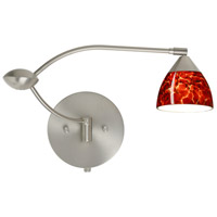 Besa Lighting 1WU-185841-SN Divi 1wu 20 inch 50 watt Satin Nickel Swing Arm Sconce Wall Light