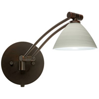 Besa Lighting 1WW-1743KR-BR Domi 1ww 14 inch 50 watt Bronze Swing Arm Sconce Wall Light