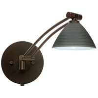 Besa Lighting 1WW-1743TN-BR Domi 1ww 14 inch 50 watt Bronze Swing Arm Sconce Wall Light