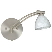 Besa Lighting 1WW-185819-SN Divi 1ww 13 inch 50 watt Satin Nickel Swing Arm Sconce Wall Light