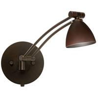 Besa Lighting 1WW-1858MB-BR Divi 1ww 13 inch 50 watt Bronze Swing Arm Sconce Wall Light