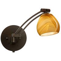 Besa Lighting 1WW-5605HN-BR Tay Tay 1ww 13 inch 50 watt Bronze Swing Arm Sconce Wall Light