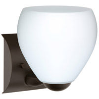 Besa Lighting 1WZ-412207-BR Bolla 1 Light 6 inch Bronze Mini Sconce Wall Light in Incandescent Opal Matte Glass