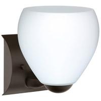 Besa Lighting 1WZ-412207-LED-BR Bolla LED 6 inch Bronze Mini Sconce Wall Light in Opal Matte Glass