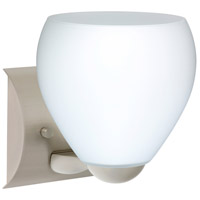 Besa Lighting 1WZ-412207-SN Bolla 1 Light 6 inch Satin Nickel Mini Sconce Wall Light in Incandescent Opal Matte Glass