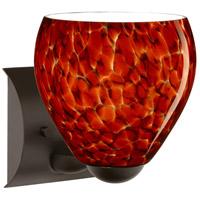 Besa Lighting 1WZ-412241-LED-BR Bolla LED 6 inch Bronze Mini Sconce Wall Light in Garnet Glass
