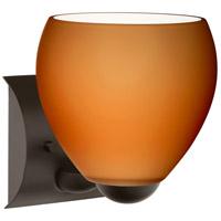 Besa Lighting 1WZ-412280-LED-BR Bolla LED 6 inch Bronze Mini Sconce Wall Light in Amber Matte Glass