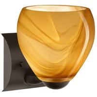 Besa Lighting 1WZ-4122HN-LED-BR Bolla LED 6 inch Bronze Mini Sconce Wall Light in Honey Glass