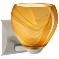 Besa Lighting 1WZ-4122HN-LED-SN Bolla LED 6 inch Satin Nickel Mini Sconce Wall Light in Honey Glass