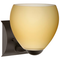 Besa Lighting 1WZ-4122VM-BR Bolla 1 Light 6 inch Bronze Mini Sconce Wall Light in Incandescent Vanilla Matte Glass