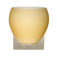 Besa Lighting 1WZ-4122VM-CR Bolla 1 Light 6 inch Chrome Mini Sconce Wall Light in Incandescent Vanilla Matte Glass