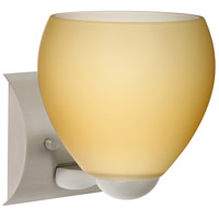 Besa Lighting 1WZ-4122VM-LED-SN Bolla LED 6 inch Satin Nickel Mini Sconce Wall Light in Vanilla Matte Glass